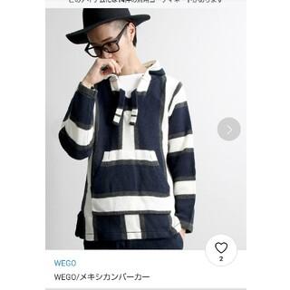 ウィゴー(WEGO)のメキシカンパーカー  WEGO 紺(ニット/セーター)