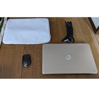 ヒューレットパッカード(HP)のHP pavilion au-100 純正ケース、純正無線マウス付き(ノートPC)