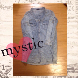 ミスティック(mystic)のmystic♡ロングデニムシャツ(ひざ丈ワンピース)