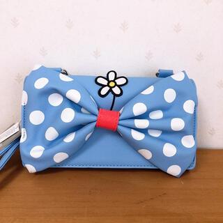 ディズニー(Disney)のラウンジフライ ディズニー ミニー ドット ショルダー財布 リストレット(ショルダーバッグ)