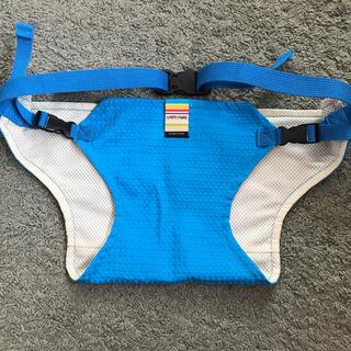 アカチャンホンポ(アカチャンホンポ)の日本製 美品✩ベビーキャリア ブルー(抱っこひも/おんぶひも)