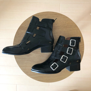 JEFFREY CAMPBELL - 美品⭐︎ジェフリーキャンベル カットアウトレザーブーティ靴 黒 US8●箱あり●