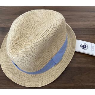 プチバトー(PETIT BATEAU)の新品 Petit Bateau 帽子 ハット 3/4a(帽子)