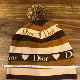 クリスチャンディオール(Christian Dior)のChristian Dior クリスチャンディオール ニット帽(ニット帽/ビーニー)