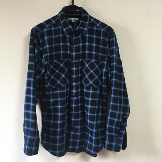 UNIQLO - ユニクロ フランネルチェックシャツ ブルー系