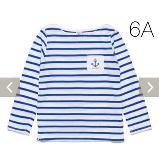 プチバトー(PETIT BATEAU)の新品未使用  プチバトー ライトコットン マリニエール 長袖Tシャツ 6ans(Tシャツ/カットソー)