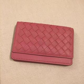 ボッテガヴェネタ(Bottega Veneta)のボッテガヴェネタ ピンク カードケース(名刺入れ/定期入れ)