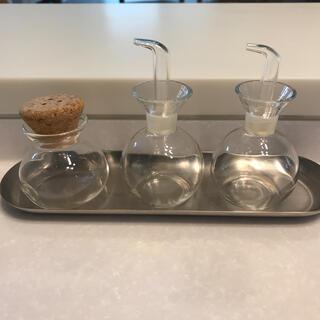 アクタス(ACTUS)のACTUS  アクタス  調味料入れ  ガラス  3点セット(容器)