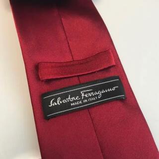 Salvatore Ferragamo - サルヴァトーレフェラガモの赤色ネクタイ(レッド)