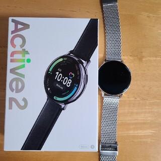 ギャラクシー(Galaxy)の★美品Galaxy Watch Active 2 シルバー ステンレス★(腕時計(デジタル))