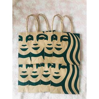 スターバックスコーヒー(Starbucks Coffee)のスターバックス 手提げ紙袋 8枚 匿名・即日発送(ショップ袋)