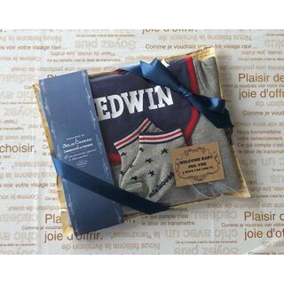 エドウィン(EDWIN)の数量限定*特別価格 出産祝い ギフトセット☆男の子用(ベビースタイ/よだれかけ)