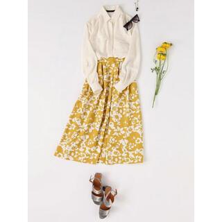 マルティニークルコント(martinique Le Conte)のmartinique マルティニーク 花柄 フレア Aライン スカート(ひざ丈スカート)