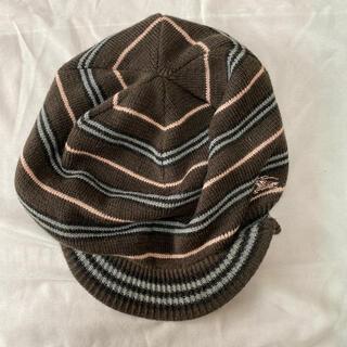 バーバリーブルーレーベル(BURBERRY BLUE LABEL)のバーバリー ブルーレーベル レディース リバーシブル ニット 帽子(ハット)