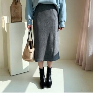 ディーホリック(dholic)のHラインスリットスカート t61894(ひざ丈スカート)