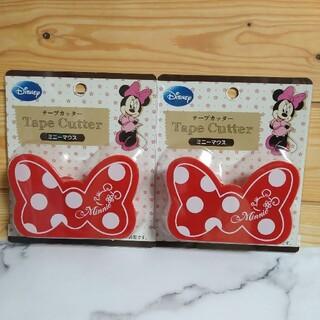 ディズニー(Disney)のミニーマウス テープカッター2個(テープ/マスキングテープ)