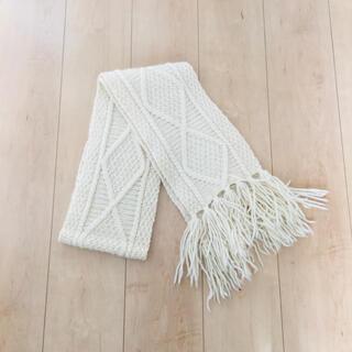 インバーアラン(INVERALLAN)のallan knit muffler stole off white(マフラー/ショール)