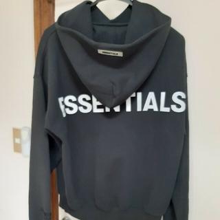 エッセンシャル(Essential)のエッセンシャルズ メンズ パーカー 黒(スウェット)