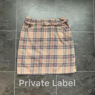 プライベートレーベル(PRIVATE LABEL)のPrivate Label♡タータンチェックミニスカート(ミニスカート)