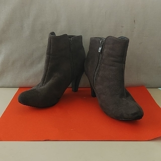 デュラス(DURAS)のショートブーツ 24.5~25cm フェイクスエード グレー デュラス(ブーツ)