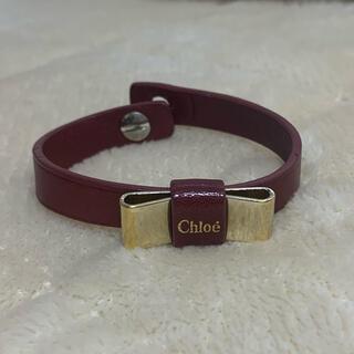 クロエ(Chloe)のChloe レザーリボンブレスレット(ブレスレット/バングル)
