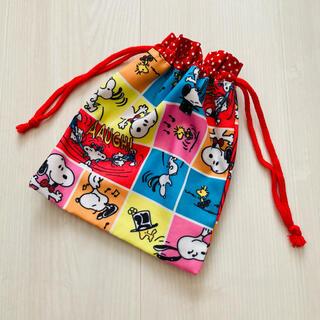 スヌーピー(SNOOPY)の《handmade》巾着袋(外出用品)