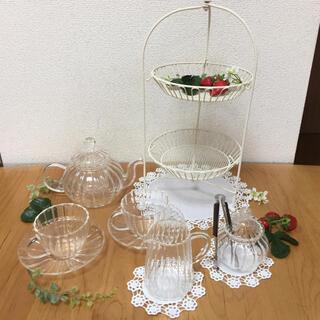 ガラスのティータイムセット 10点セット(食器)