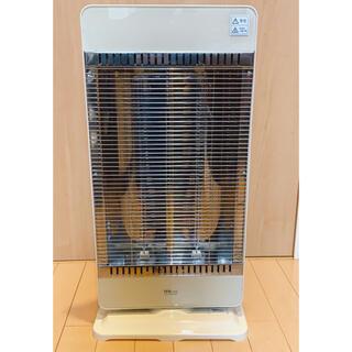テクノス(TECHNOS)のTEKNOS カーボンヒーター 900W リモコン式 白 暖房器具 使用済(電気ヒーター)