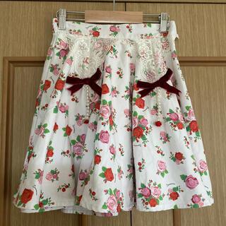 スワンキス(Swankiss)の花柄リボンパールスカート(ミニスカート)