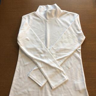 コムサイズム(COMME CA ISM)の【新品未使用】コムサイズム 白 ハイネックT(Tシャツ/カットソー)