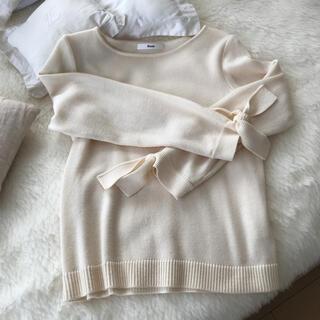 ルネ(René)のルネオフホワイトセーター(ニット/セーター)