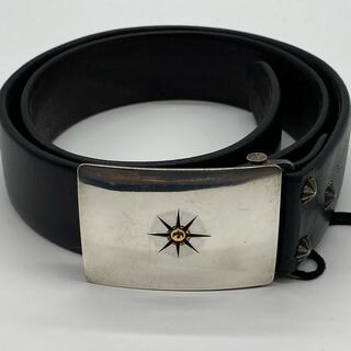 ゴローズ(goro's)のゴローズ 美品 可動式バックルベルトコンチョカスタム 黒(ベルト)