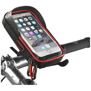 バイク 携帯ホルダー マウント 収納可能 撥水 6.0インチスマホ対応(その他)
