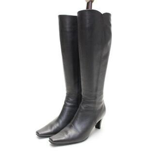 ピッティ(Pitti)のPitti 本革ロングブーツ(22.5cm2E)美品(ブーツ)