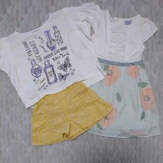 アナスイミニ(ANNA SUI mini)のアナスイミニ 3点セット 100㎝ ③(Tシャツ/カットソー)