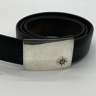 ゴローズ(goro's)のゴローズ 良品 固定式バックルベルト4センチ幅 黒(ベルト)