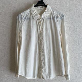パーリッシィ(PAR ICI)のPAR ICI パーリッシィ シャツ ブラウス 綿 無地 白 きなり 丸襟 (シャツ/ブラウス(長袖/七分))