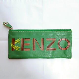 ケンゾー(KENZO)のKENZOクラッチバッグ(グリーン緑×イエロー黄色)(クラッチバッグ)