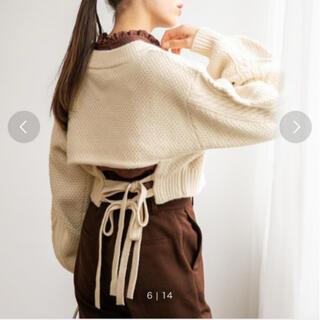 heather - Heather Vネックニット knit