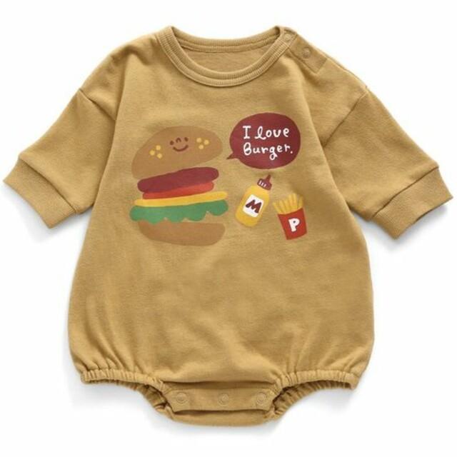 ampersand(アンパサンド)の【新品未使用】Ampersand ハンバーガー ロンパース キッズ/ベビー/マタニティのベビー服(~85cm)(ロンパース)の商品写真