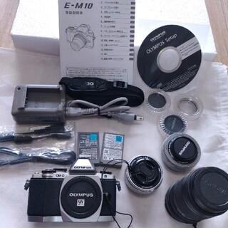 オリンパス(OLYMPUS)の[美品]★OLYMPUS  OM-D E-M10 レンズ3本付!(ミラーレス一眼)