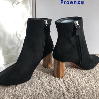 プロエンザスクーラー(Proenza Schouler)の新品 未使用 プロエンザスクーラー ブーツ ウッドヒール チャンキー  黒(ブーツ)