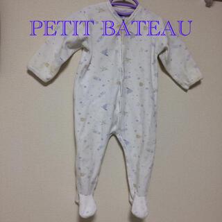 プチバトー(PETIT BATEAU)のプチバトー 足つきカバーオール  ふわふわ パイル生地 スリーパー(カバーオール)