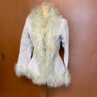 セシルマクビー(CECIL McBEE)のセシルマクビー 水色ピックスエード チベットラムファーコート(毛皮/ファーコート)