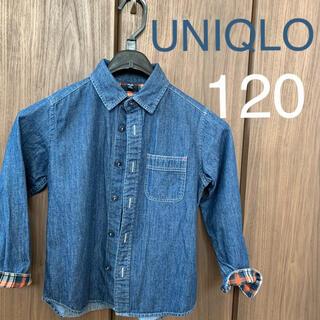 ユニクロ(UNIQLO)のデニムシャツ 120 ユニクロ(ブラウス)