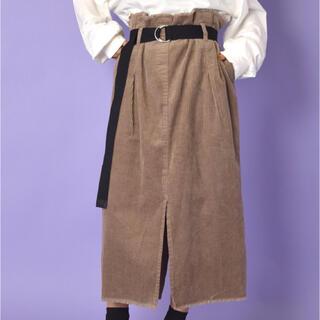 ダブルクローゼット(w closet)の◯wcloset◯ベルト付きコーデュロイウエストギャザースカート(ロングスカート)
