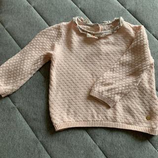 ボンポワン(Bonpoint)のイギリスのフリル襟ニット☆ボンポワンやファミリア好きの方にも(ニット/セーター)