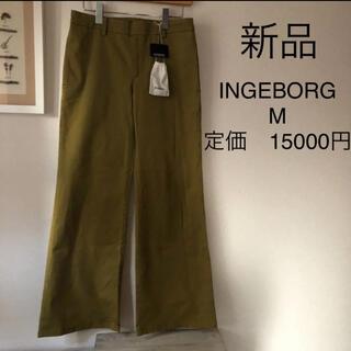 INGEBORG - 新品未使用 タグ付き INGEBORG  ワイドパンツ Mサイズ カーキ
