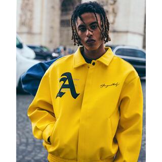 ステューシー(STUSSY)の 新品 大人気 AFGK スタジャン イエロー 黄色 ジャケット ブルゾン(スタジャン)