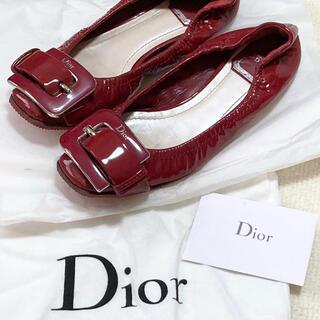 クリスチャンディオール(Christian Dior)の【Dior】バックル バレリーナシューズ サイズ23cm(バレエシューズ)